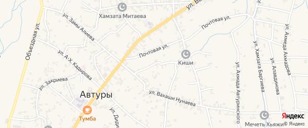 Короткий переулок на карте села Автуры с номерами домов