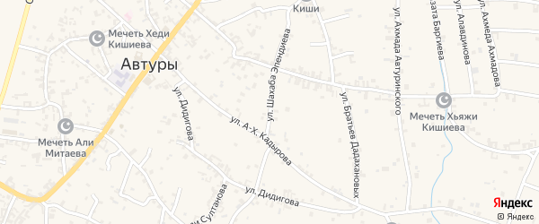 Улица им Шахаба Эпендиева на карте села Автуры с номерами домов