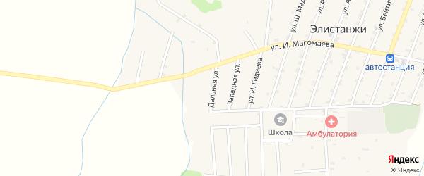 Дальняя улица на карте села Элистанжи с номерами домов