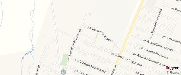 Улица Шахида Исраилова на карте села Автуры с номерами домов