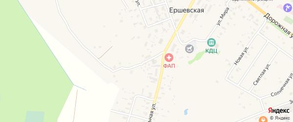 Сосновая улица на карте Ершевской деревни с номерами домов