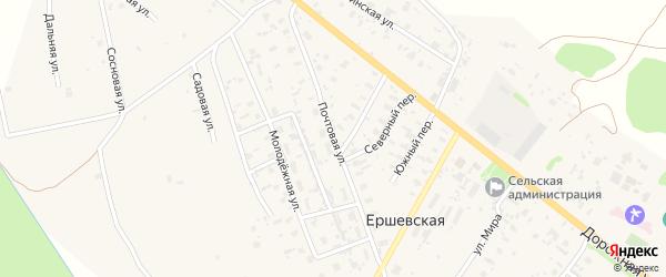 Почтовая улица на карте Ершевской деревни с номерами домов