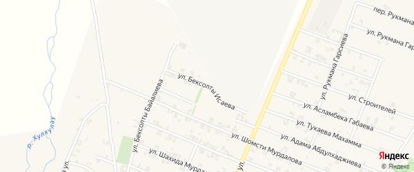 Улица Бексолты Исаева на карте села Автуры с номерами домов