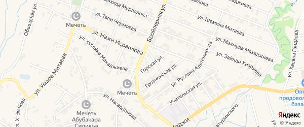Горская улица на карте села Автуры с номерами домов