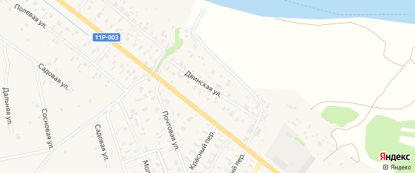 Двинская улица на карте Ершевской деревни с номерами домов