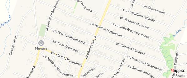 Бройлерная улица на карте села Автуры с номерами домов