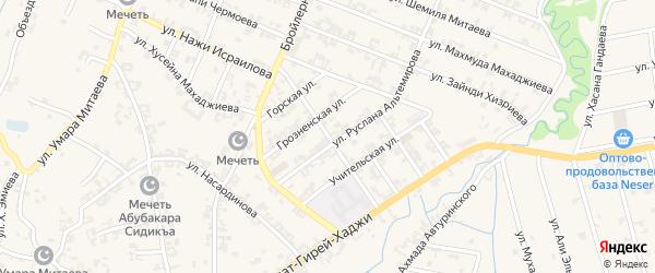 Заветная улица на карте села Автуры с номерами домов