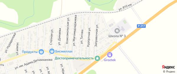 Курортная улица на карте села Джалка с номерами домов