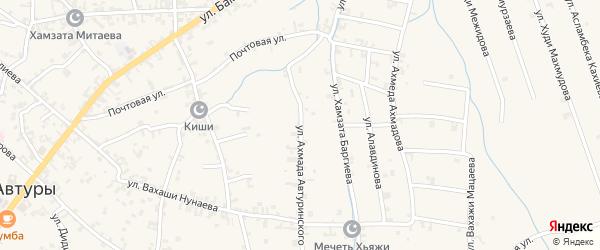 Улица им А.Автуринского на карте села Автуры с номерами домов