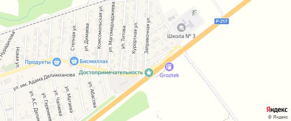 Заправочная улица на карте села Джалка с номерами домов