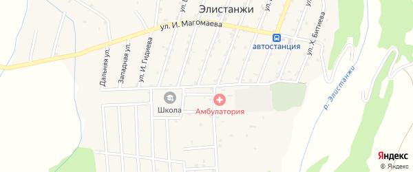Улица Р.Аппазова на карте села Элистанжи с номерами домов