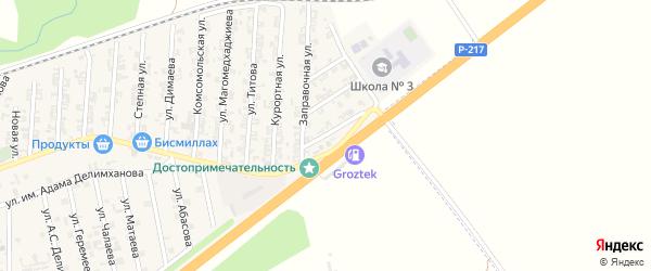 Заправочный переулок на карте села Джалка с номерами домов