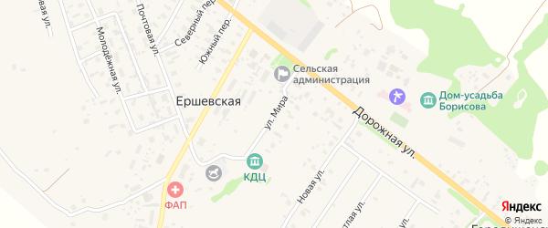 Улица Мира на карте Ершевской деревни с номерами домов