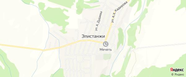 Карта села Элистанжи в Чечне с улицами и номерами домов