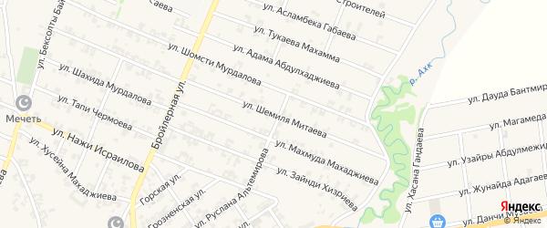 Улица Шемиля Митаева на карте села Автуры с номерами домов