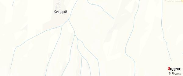 Карта села Хиндой в Чечне с улицами и номерами домов