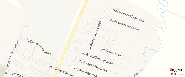 Улица Имрана Абубакарова на карте села Автуры с номерами домов