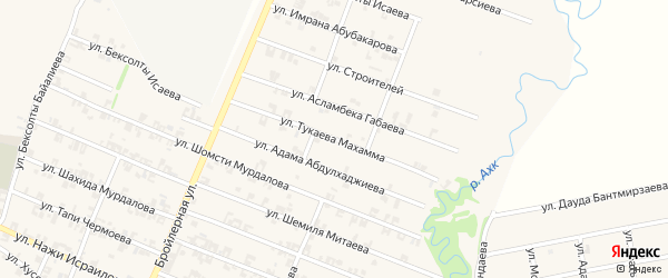 Улица Тукаева Махамма на карте села Автуры с номерами домов