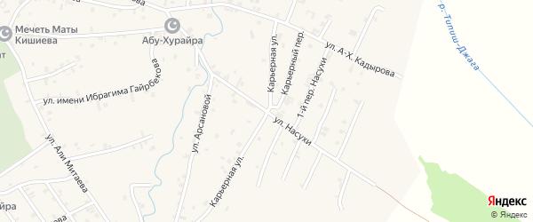 Улица Насухи на карте села Автуры с номерами домов