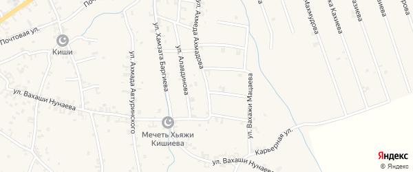 Улица Ахмеда Ахмадова на карте села Автуры с номерами домов