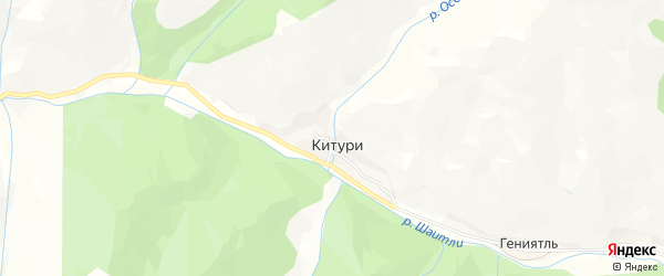 Карта села Китури в Дагестане с улицами и номерами домов
