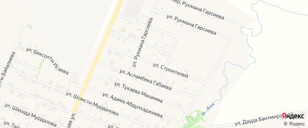Улица Строителей на карте села Автуры с номерами домов