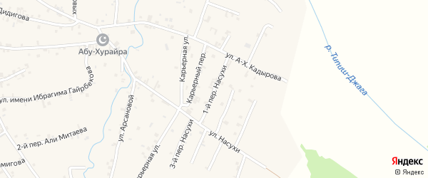 Переулок 1-й Насухи на карте села Автуры с номерами домов