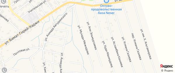 Улица Мухади Межидова на карте села Автуры с номерами домов