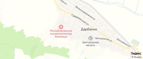 Карта села Дарбанхи в Чечне с улицами и номерами домов