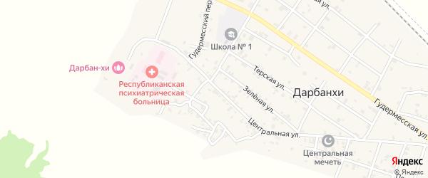 Посадочная улица на карте села Дарбанхи с номерами домов