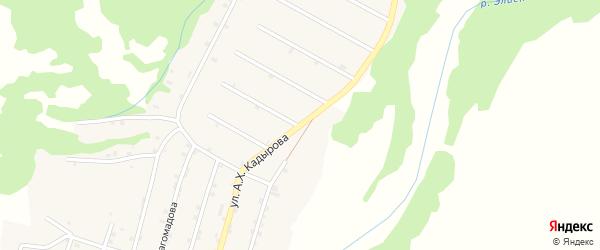 Улица А.-Х.Кадырова на карте села Элистанжи с номерами домов