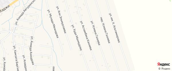 Улица Асламбека Кахиева на карте села Автуры с номерами домов
