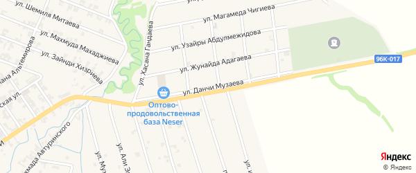 Улица Данчи Музаева на карте села Автуры с номерами домов