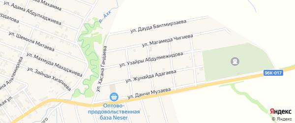 Улица Узайры Абдулмежидова на карте села Автуры с номерами домов