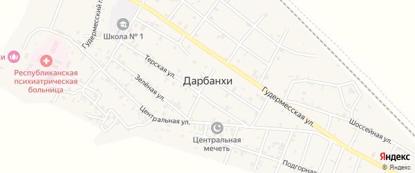 Шоссейная улица на карте села Дарбанхи с номерами домов