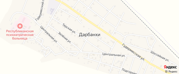 Терская улица на карте села Дарбанхи с номерами домов
