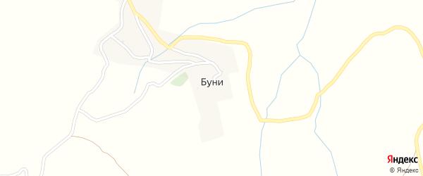 Улица им А.Исраилова на карте села Буни с номерами домов
