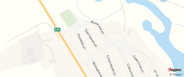 Тракторная улица на карте села Зубовки с номерами домов