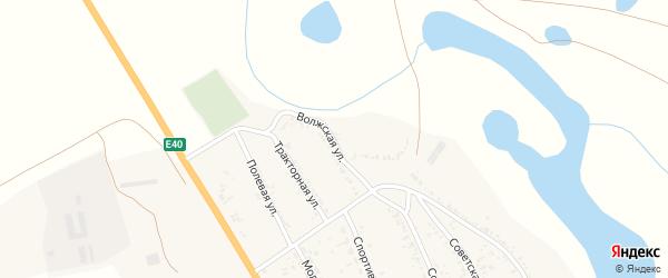 Волжская улица на карте села Зубовки с номерами домов