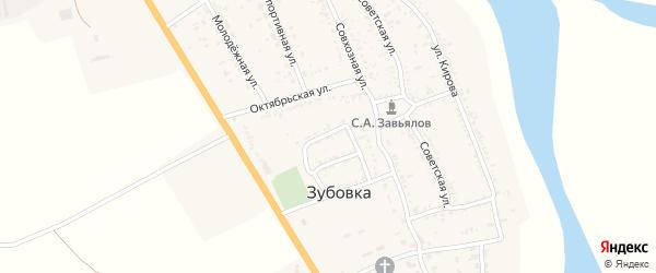 Улица Гагарина на карте села Зубовки с номерами домов