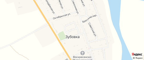 Безымянная улица на карте села Зубовки с номерами домов