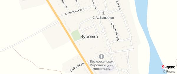 Электрическая улица на карте села Зубовки с номерами домов
