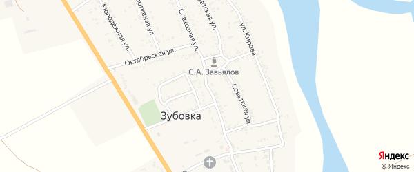 Совхозная улица на карте села Зубовки с номерами домов