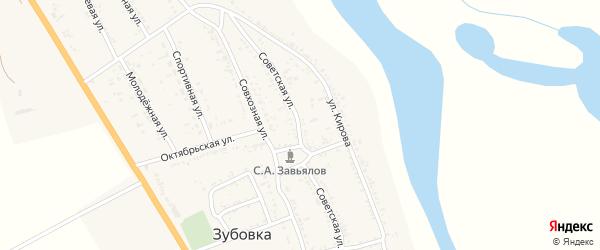 Советская улица на карте села Зубовки с номерами домов