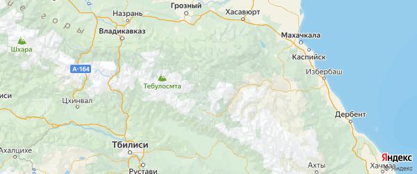 Карта Цумадинского района республики Дагестан с городами и населенными пунктами
