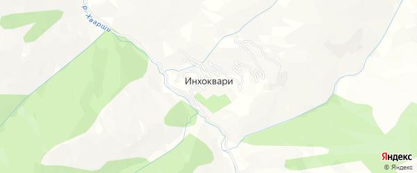 Карта села Инхоквари в Дагестане с улицами и номерами домов