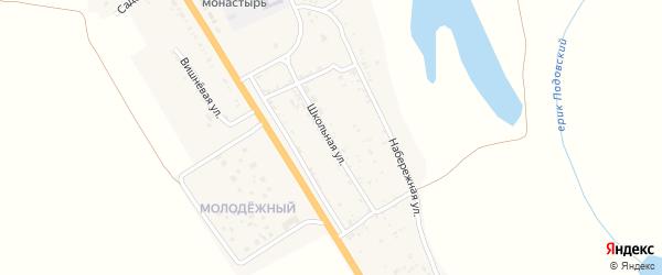 Школьная улица на карте села Зубовки с номерами домов