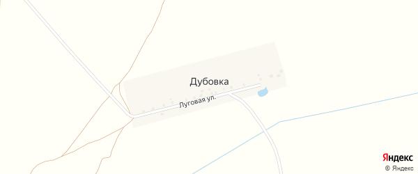 Луговая улица на карте деревни Дубовки с номерами домов