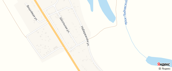 Набережная улица на карте села Зубовки с номерами домов