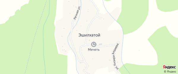 Улица Хизири Андаева на карте села Эшилхатого с номерами домов